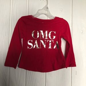 Toddler girl old navy long sleeve graphic shirt